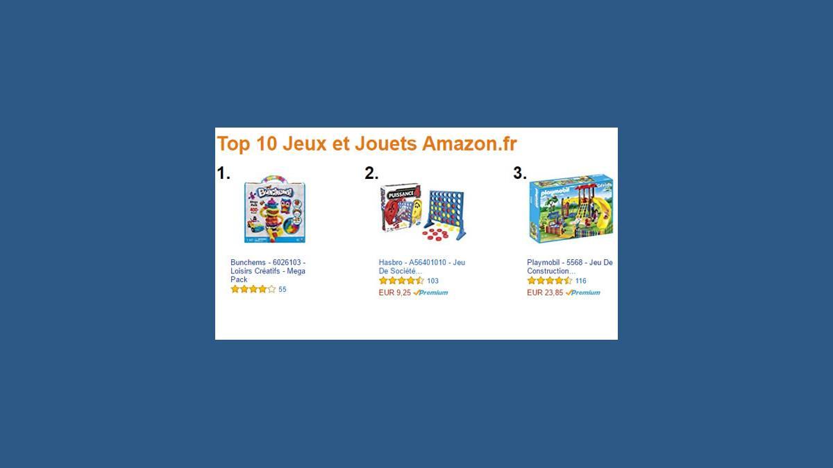 Amazon top 10 jeux et jouets Noël 2016