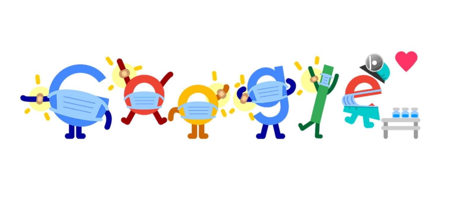 Capture Doodle vaccin COVID sur Google