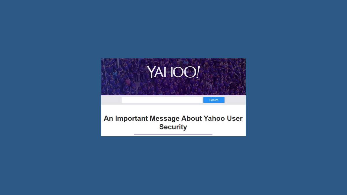 Alerte vol comptes Yahoo!
