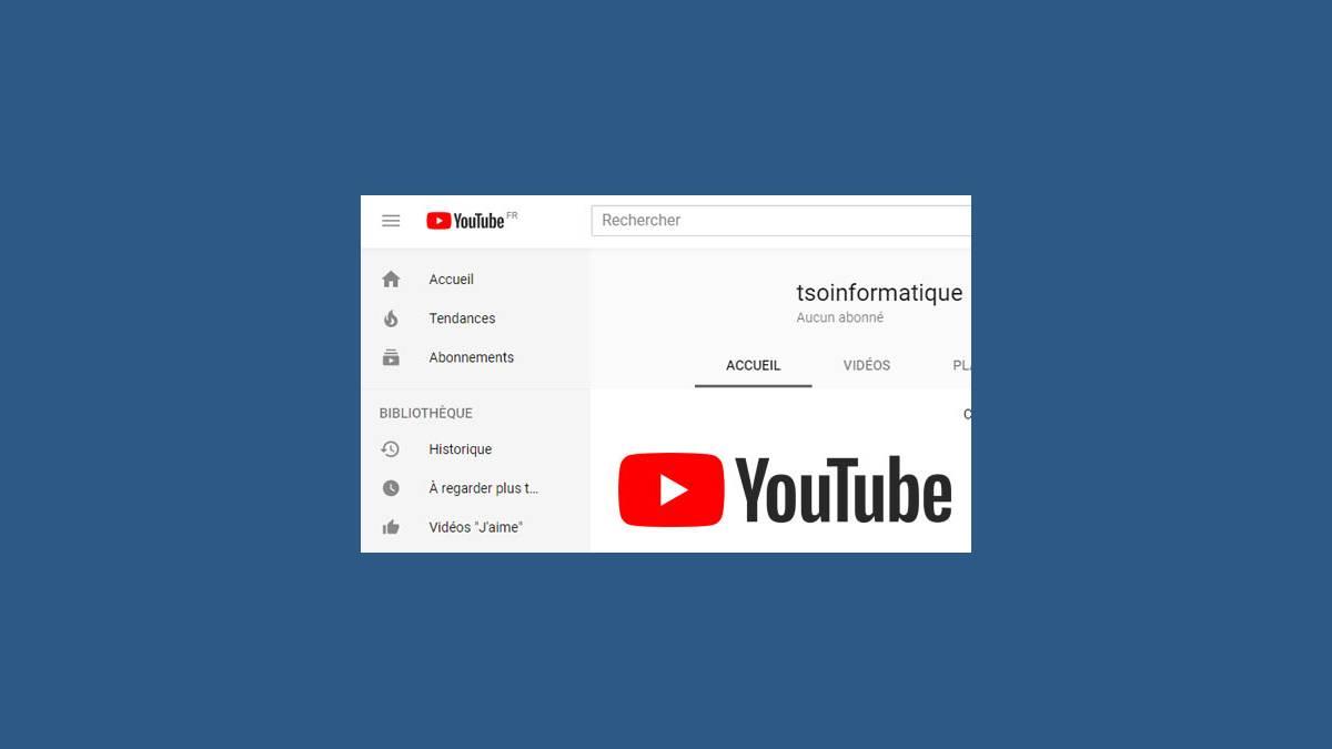 Aperçu gestion de chaîne YouTube TSO