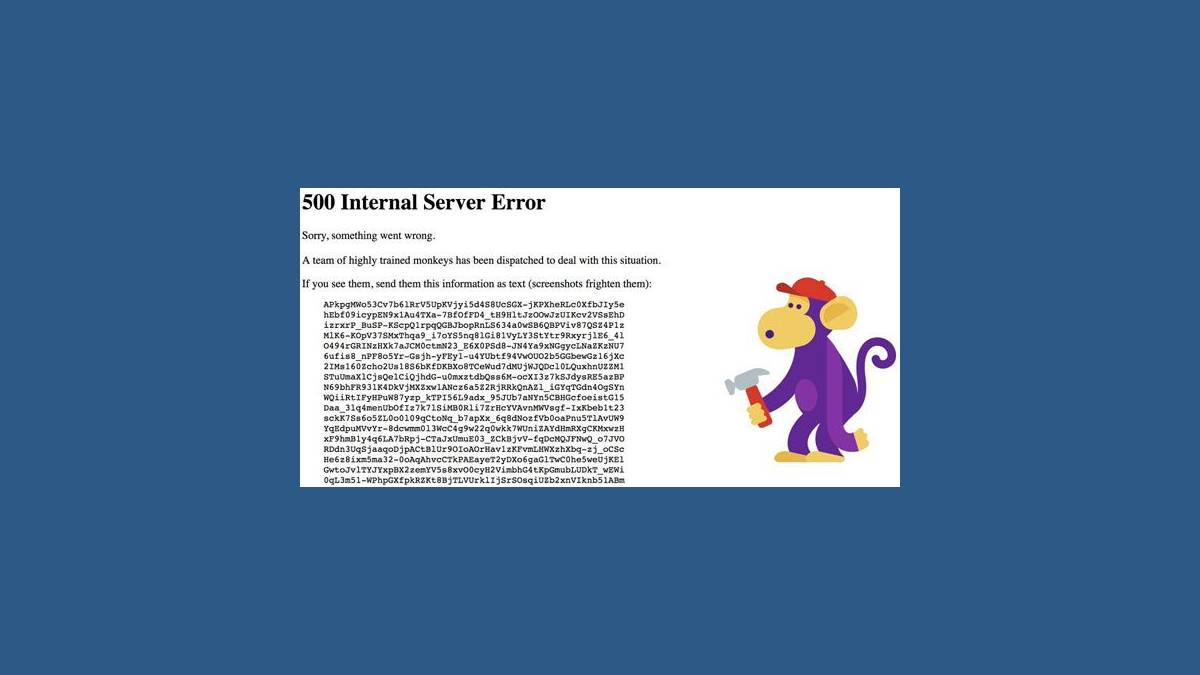 YouTube « 500 Internal Server Error »