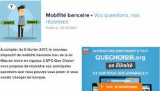 Mobilité bancaire (capture UFC Que Choisir)