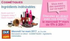 Chat produits cosmétiques UFC-Que Choisir