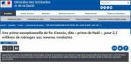 CAF - Prime de Noël RSA ASS AER 2018