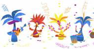 Mardi Gras et Carnaval de Rio (capture Doodle)