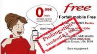 Prolongation offre Vente-privée Free Mobile 0,99 €