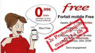 Seconde prolongation offre Vente-privée Free Mobile 0,99 €