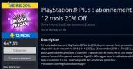 Sony PlayStation Plus 12 mois 47,99 €