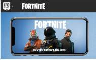 Invitation Epic Game « Fortnite Battle Royale » sur iOS