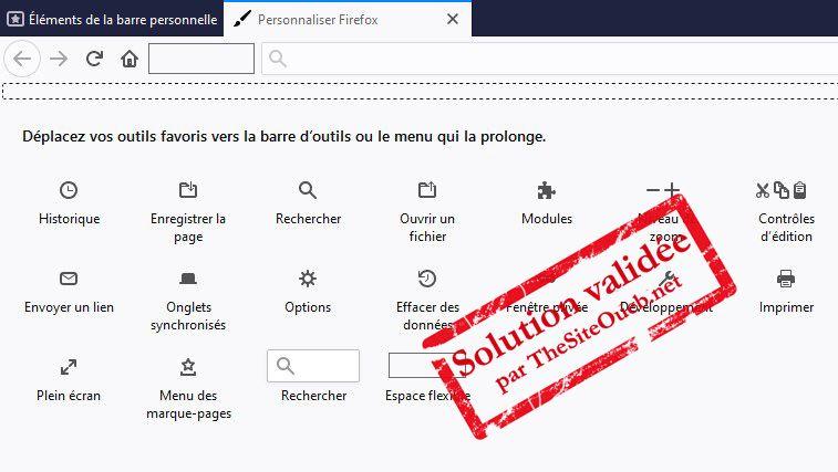 Personnaliser Firefox, la barre personnelle et la barre d'onglets