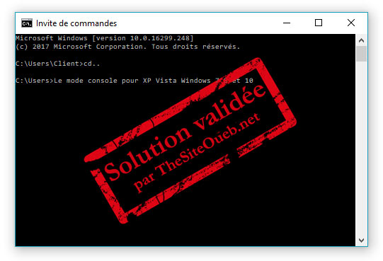 CMD invite de commande MS-Dos Windows