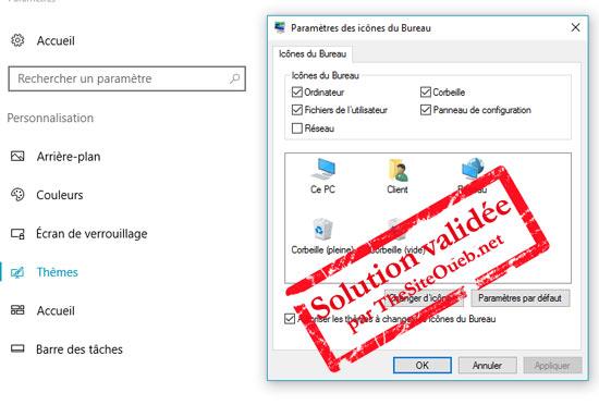 Corbeille supprimée Windows 10