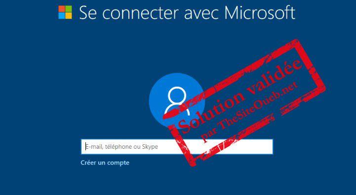 Création compte Microsoft Windows 10