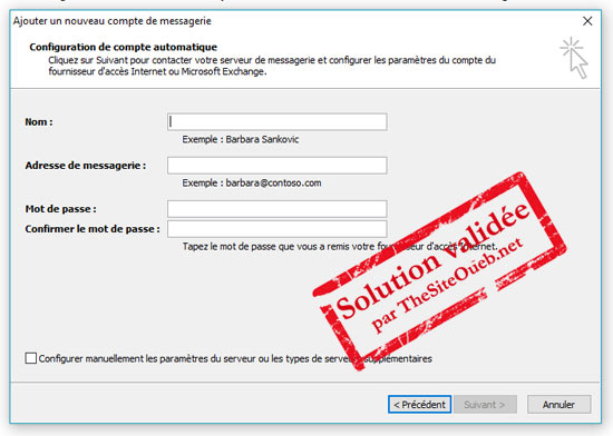 Courrier Hotmail dans Outlook