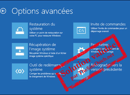 Mode sans échec F8 Windows 10
