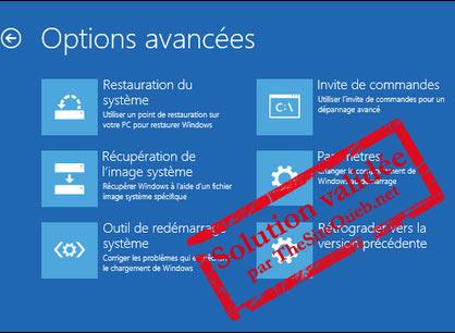 Mode sans échec F8 Windows 10