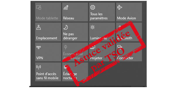 Windows 10 désactiver mode tablette